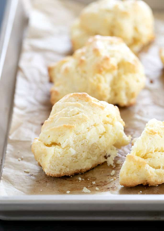 Crisp outside, fluffy inside, these gluten free cream biscuits are ready in 20 minutes flat.