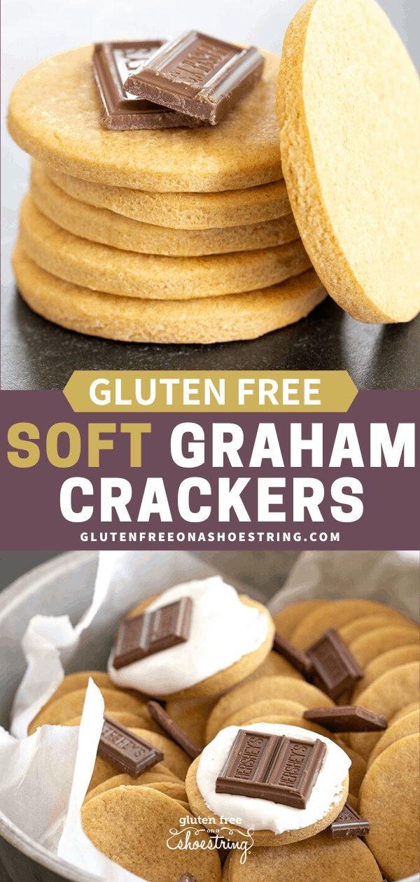 Soft graham crackers in a stack and in a tin with chocolate
