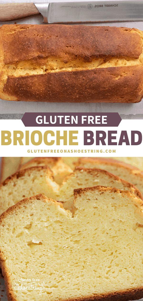 Brioche bread whole loaf and brioche bread slices