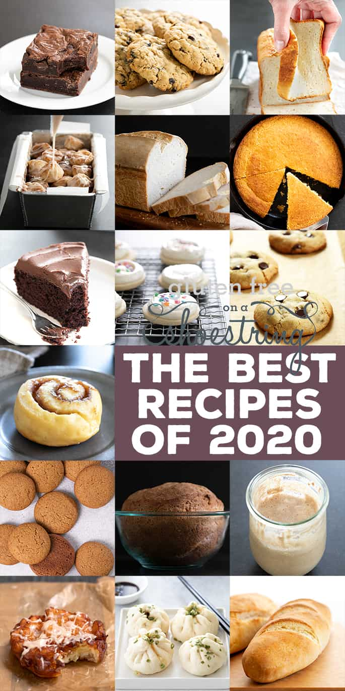 Best Recipes of 2020 full collage with 16 small images of best recipes