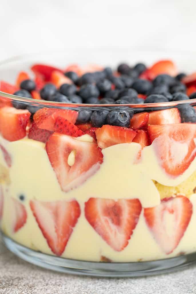 Gluten Free Trifle with Gluten Free Custard